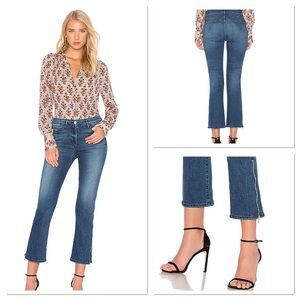 3X1 NYC Midway gusset zipper crop Jeans NWT